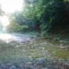 夕まずめの渓流