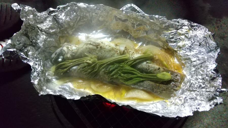 岩魚(イワナ)のホイル焼き